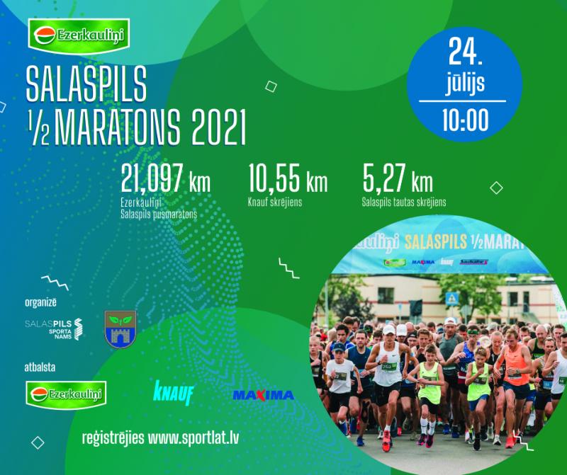 7. Ezerkauliņi Salaspils pilsētas pusmaratons 2021